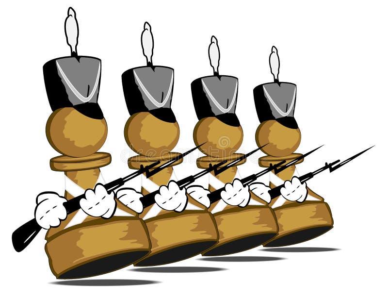 Lopende moedige panden stock illustratie