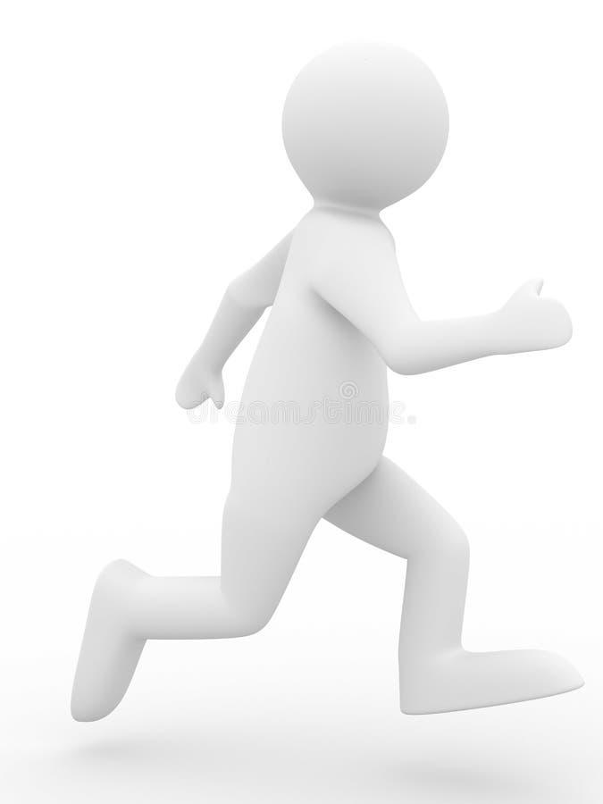 Lopende persoon op witte achtergrond royalty-vrije illustratie