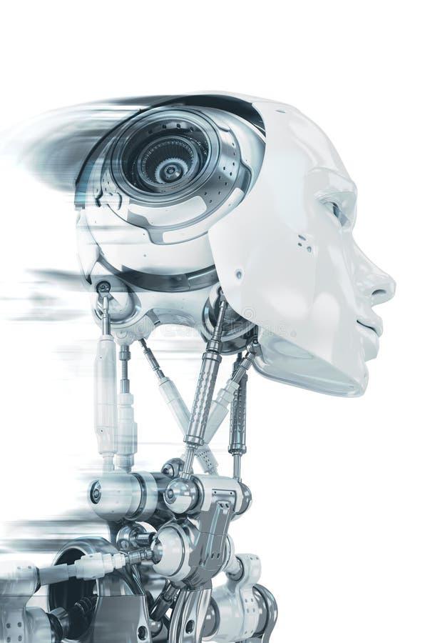Lopende robot royalty-vrije stock afbeelding