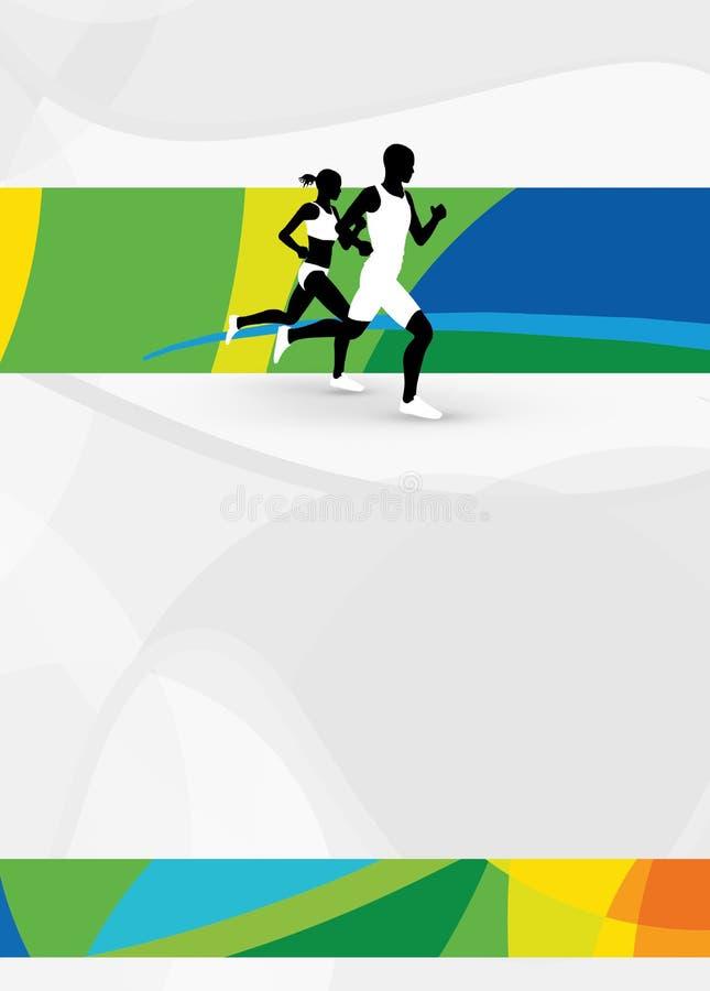 Lopende sportachtergrond royalty-vrije illustratie
