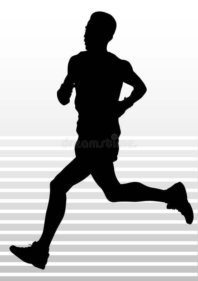 Lopende sportenmens vector illustratie