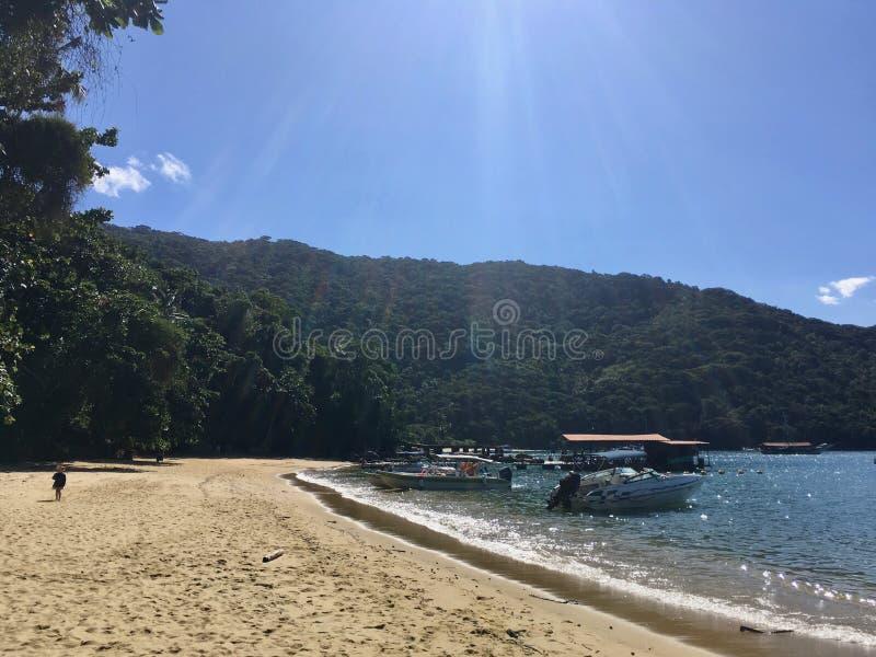 Lopes Mendes plaża w Ilha Grande zdjęcie royalty free