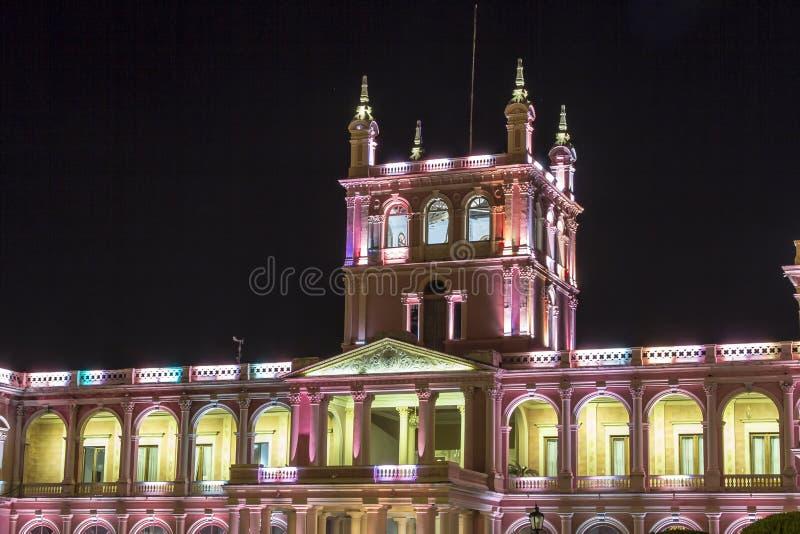 Lopez presidentpalatset Asuncion Paraguay huvudstad royaltyfri foto
