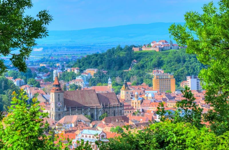 Lopp Brasov, Rumänien royaltyfria bilder