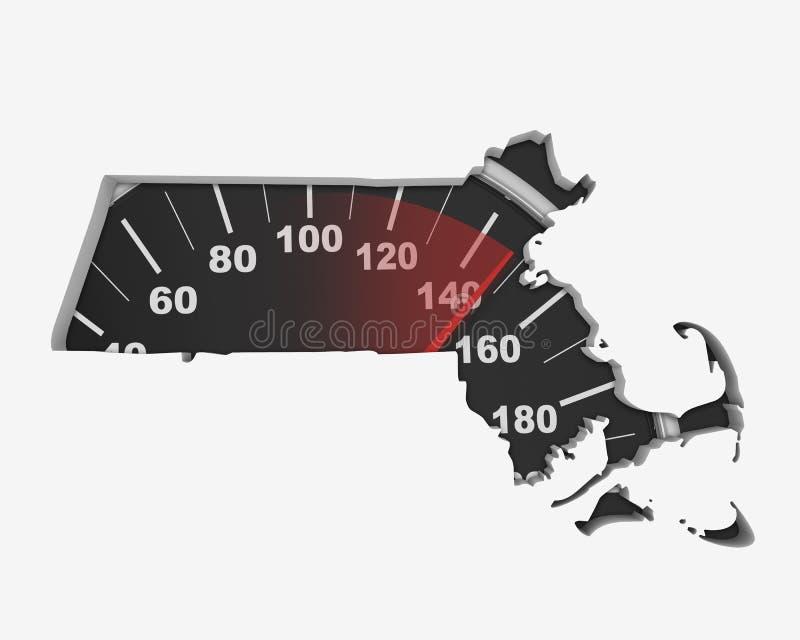 Lopp 3d för konkurrens för snabb hastighet för översikt för Massachusetts MORhastighetsmätare vektor illustrationer