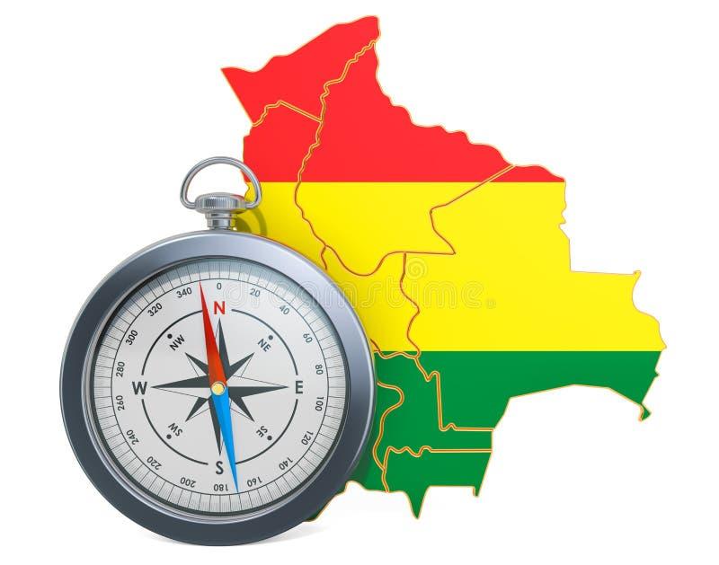 Lopp eller turism i det Bolivia begreppet framf?rande 3d stock illustrationer