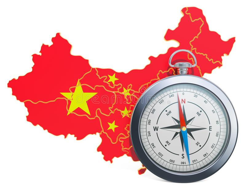 Lopp eller turism i det Kina begreppet framf?rande 3d stock illustrationer