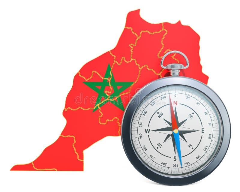 Lopp eller turism i det Marocko begreppet framf?rande 3d vektor illustrationer