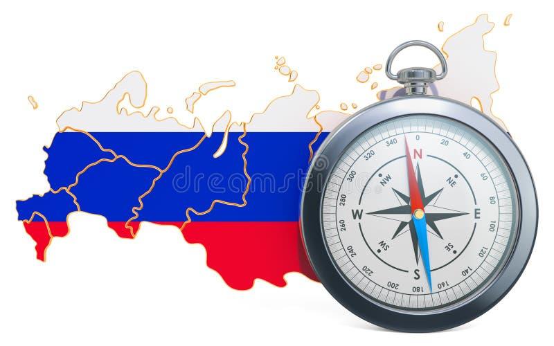 Lopp eller turism i det Ryssland begreppet framf?rande 3d stock illustrationer