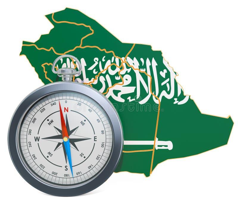 Lopp eller turism i det Saudiarabien begreppet framf?rande 3d royaltyfri illustrationer