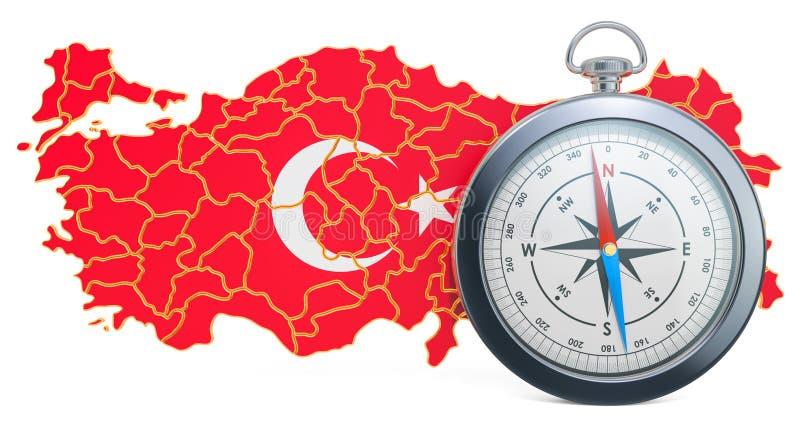 Lopp eller turism i det Turkiet begreppet framf?rande 3d royaltyfri illustrationer