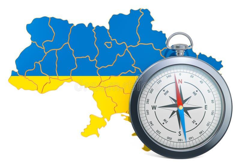 Lopp eller turism i det Ukraina begreppet framf?rande 3d stock illustrationer