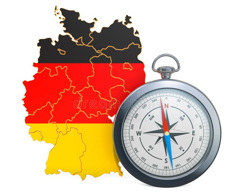Lopp eller turism i Tysklandbegrepp framf?rande 3d stock illustrationer