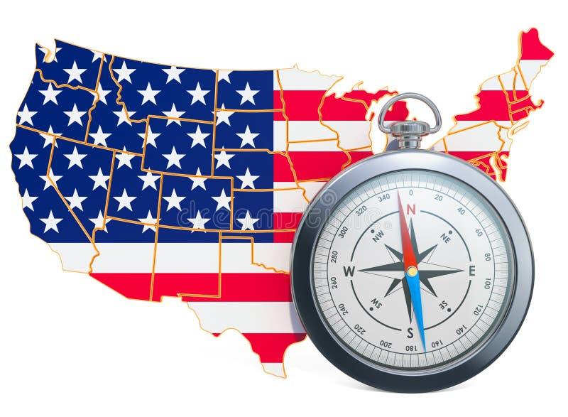 Lopp eller turism i USA begreppet framf?rande 3d stock illustrationer