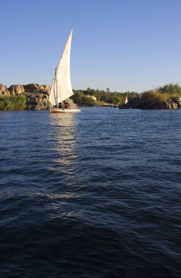 lopp för egypt feluccanile flod fotografering för bildbyråer