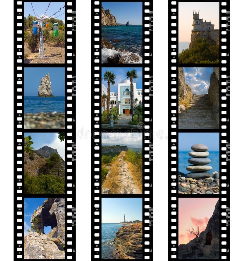 lopp för natur för filmramar arkivbild