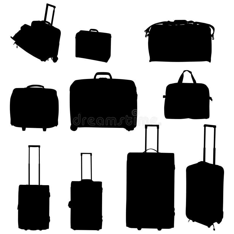 lopp för påsesamlingsresväskor royaltyfri illustrationer