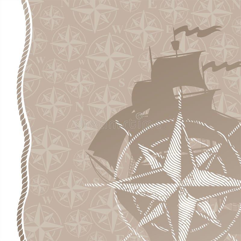 lopp för rose för affärsföretagbakgrundskompass stock illustrationer