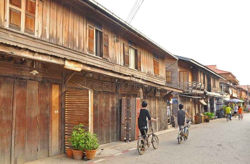 Lopp i Chiang Khan arkivbilder