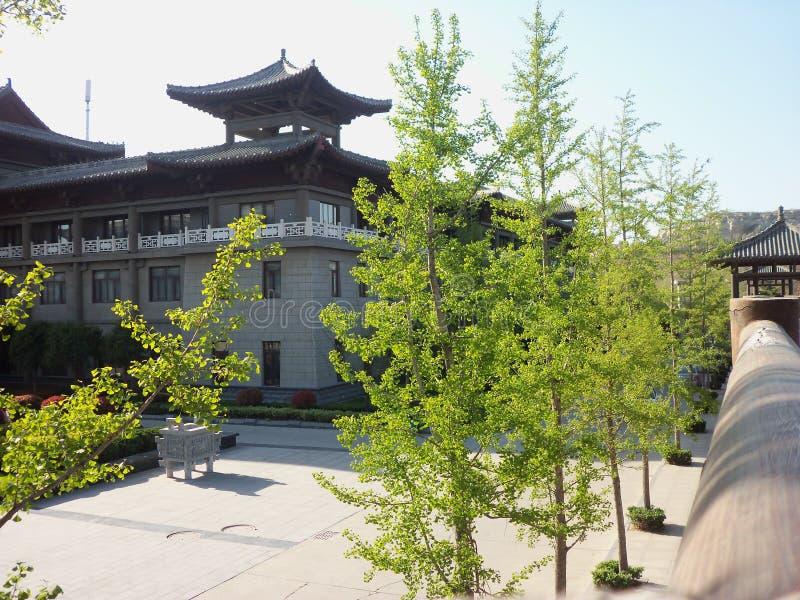 Lopp i Kina, tempeltr?dg?rd royaltyfri foto