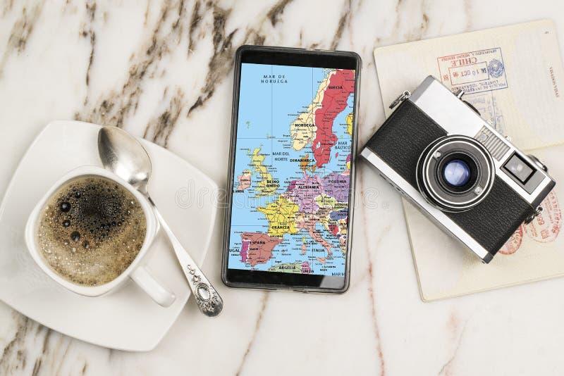 Lopp med mobiltelefonen arkivfoto