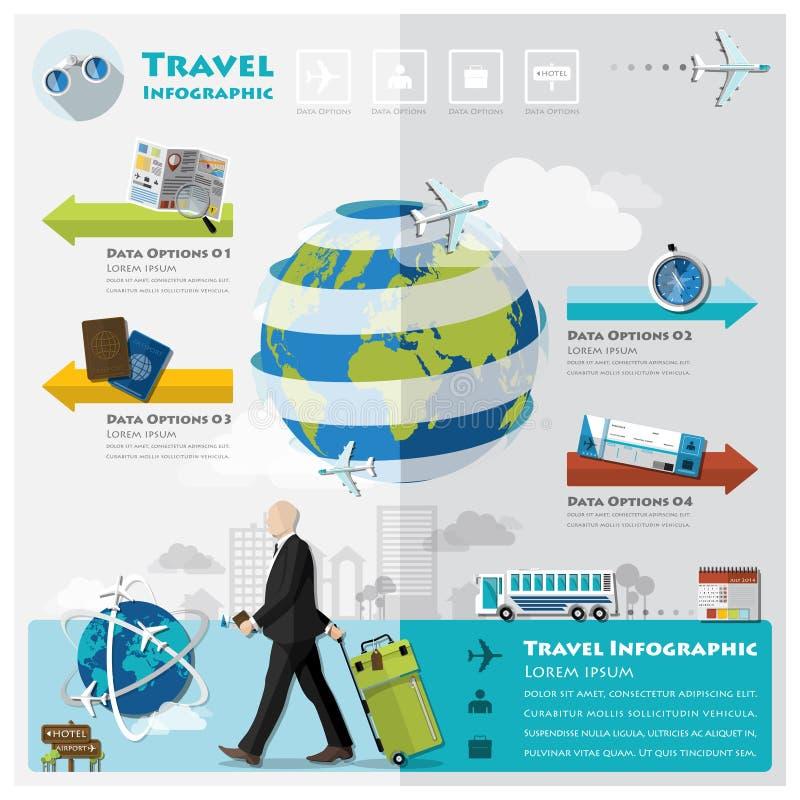 Lopp- och resaaffär Infographic stock illustrationer
