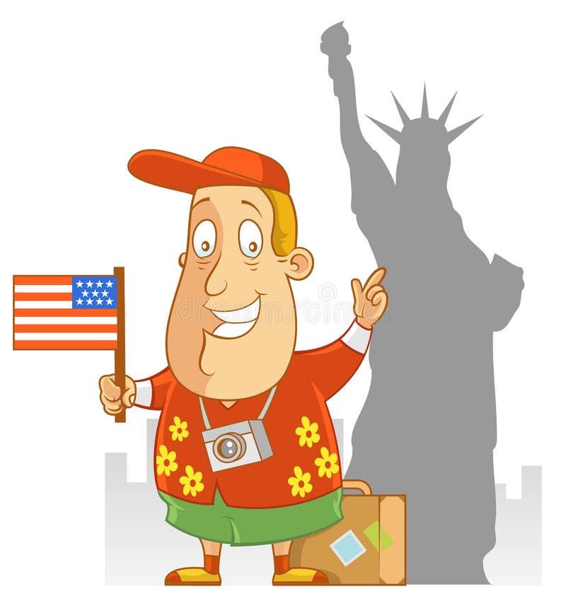 Lopp till Amerika stock illustrationer