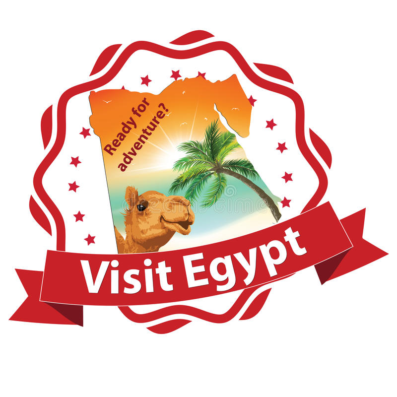 Lopp till den Egypten advertizingen för loppbyråer stock illustrationer