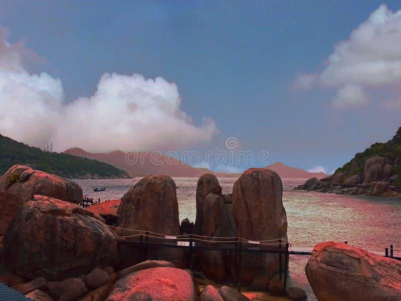 Lopp till den nangyuan ön för asia Thailand koh royaltyfria foton