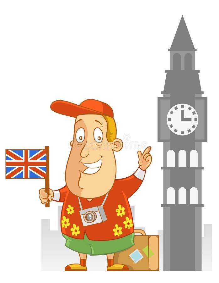 Lopp till England royaltyfri illustrationer