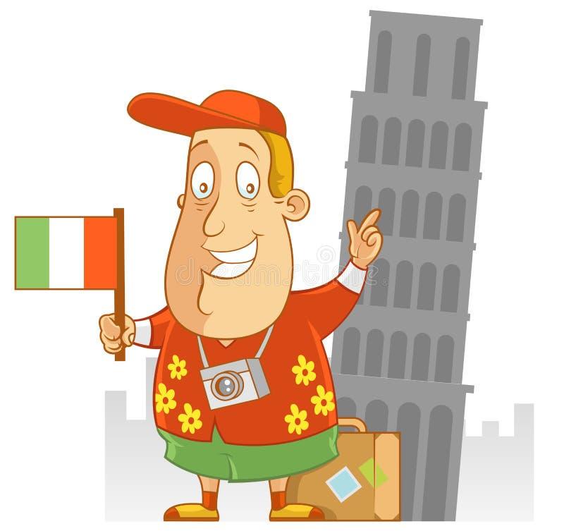 Lopp till Italien royaltyfri illustrationer