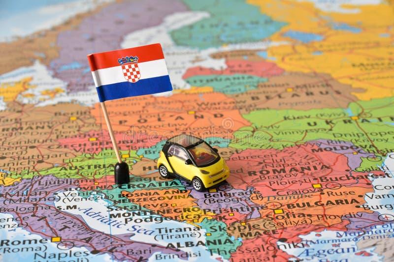 Lopp till Kroatienbegreppet royaltyfri fotografi
