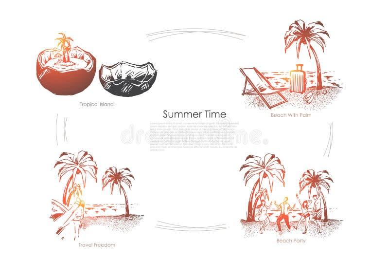 Lopp till paradis stock illustrationer