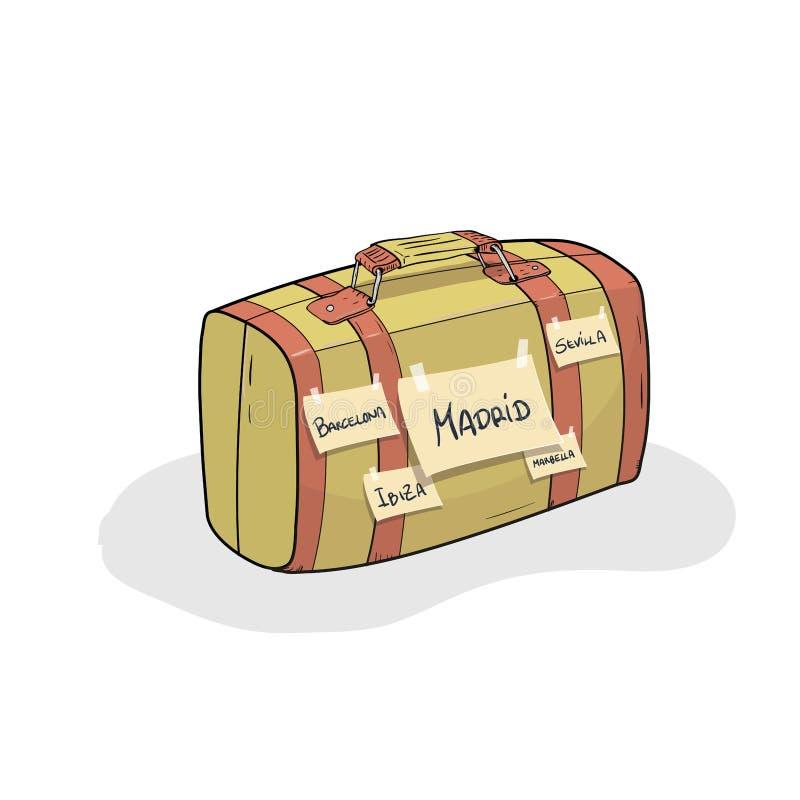Lopp till Spanien vektor illustrationer