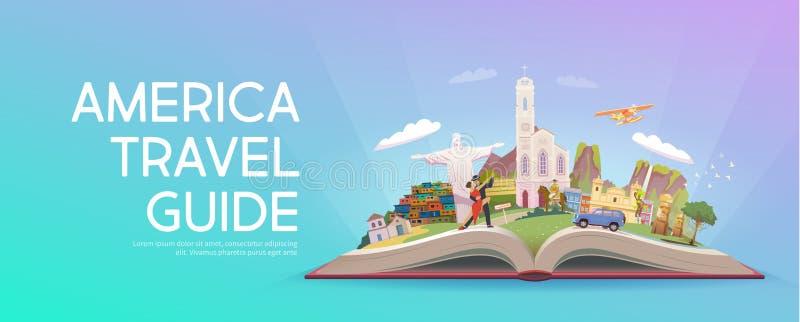 Lopp till Sydamerika stock illustrationer