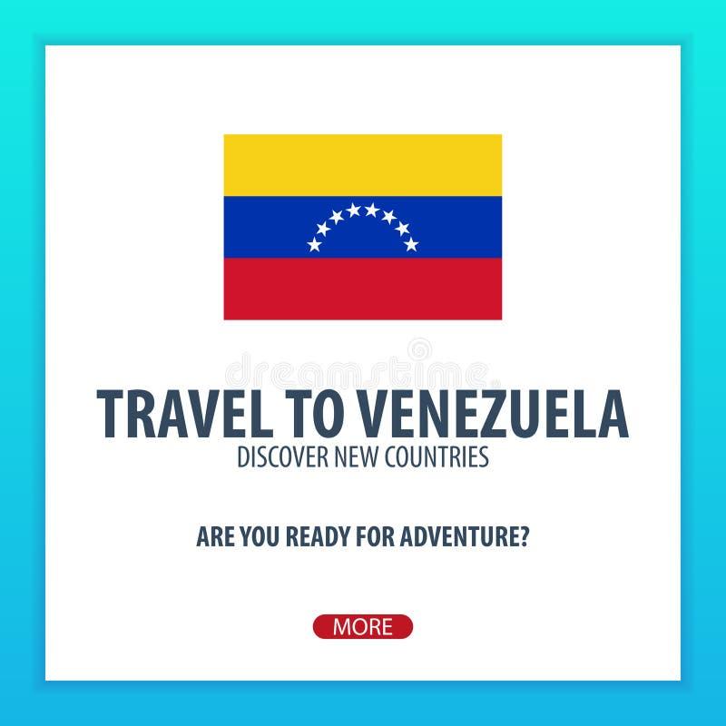 Lopp till Venezuela Upptäck och undersök nya länder Affärsföretagtur stock illustrationer