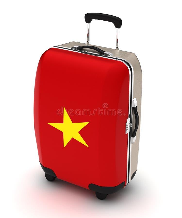 Lopp till Vietnam stock illustrationer