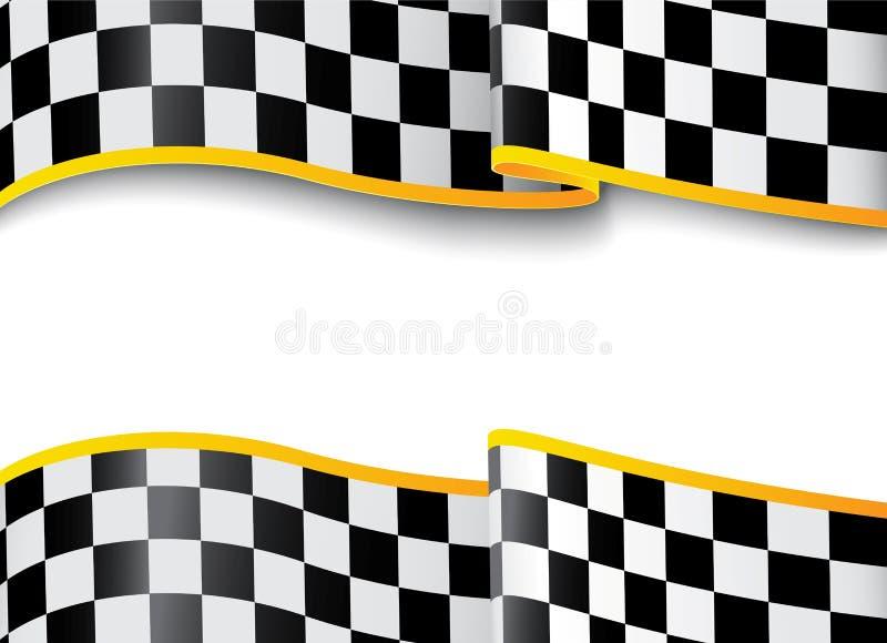 Loppbakgrund. Rutigt svartvitt vektor illustrationer