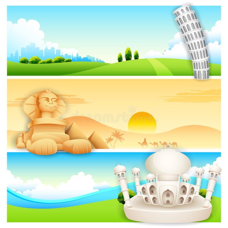 Loppbaner stock illustrationer