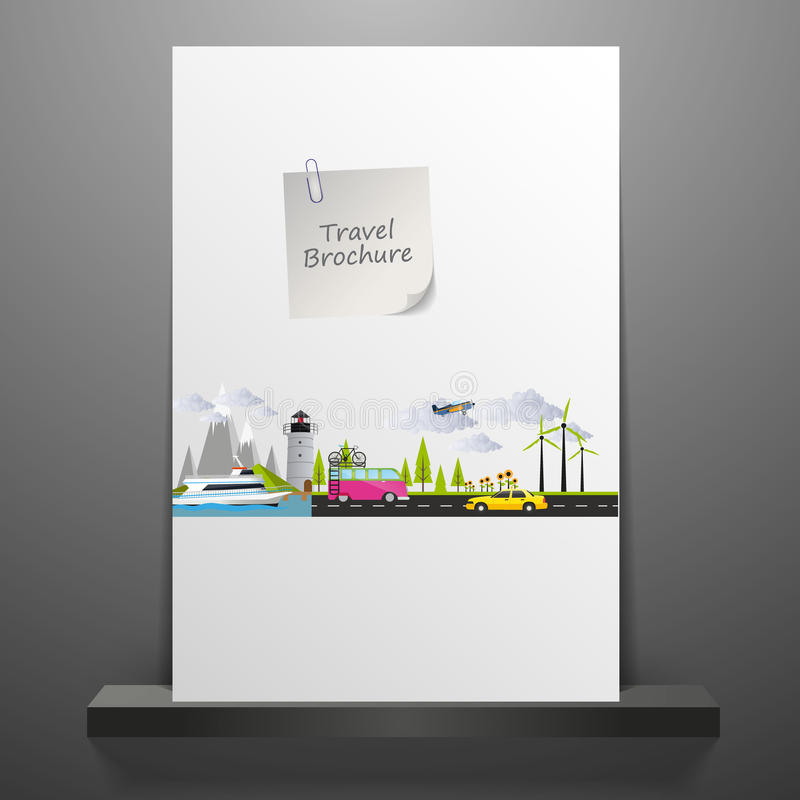 Loppbroschyrdesign stock illustrationer