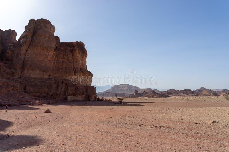 Loppet i Timna parkerar av den Arava ?knen Israel royaltyfri fotografi