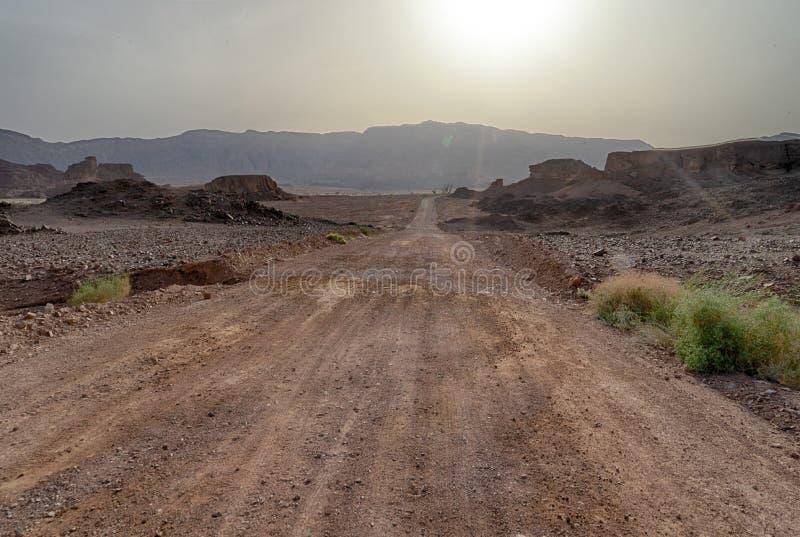 Loppet i Timna parkerar av den Arava ?knen Israel arkivfoton