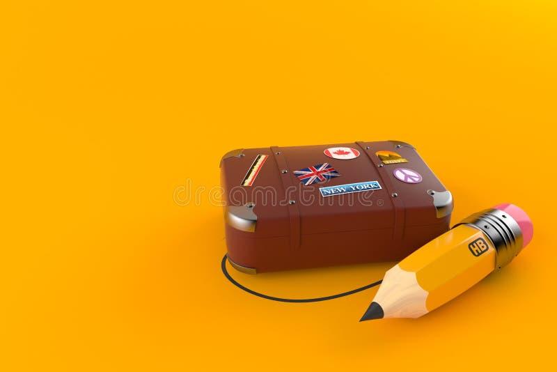 Loppfall med blyertspennan vektor illustrationer