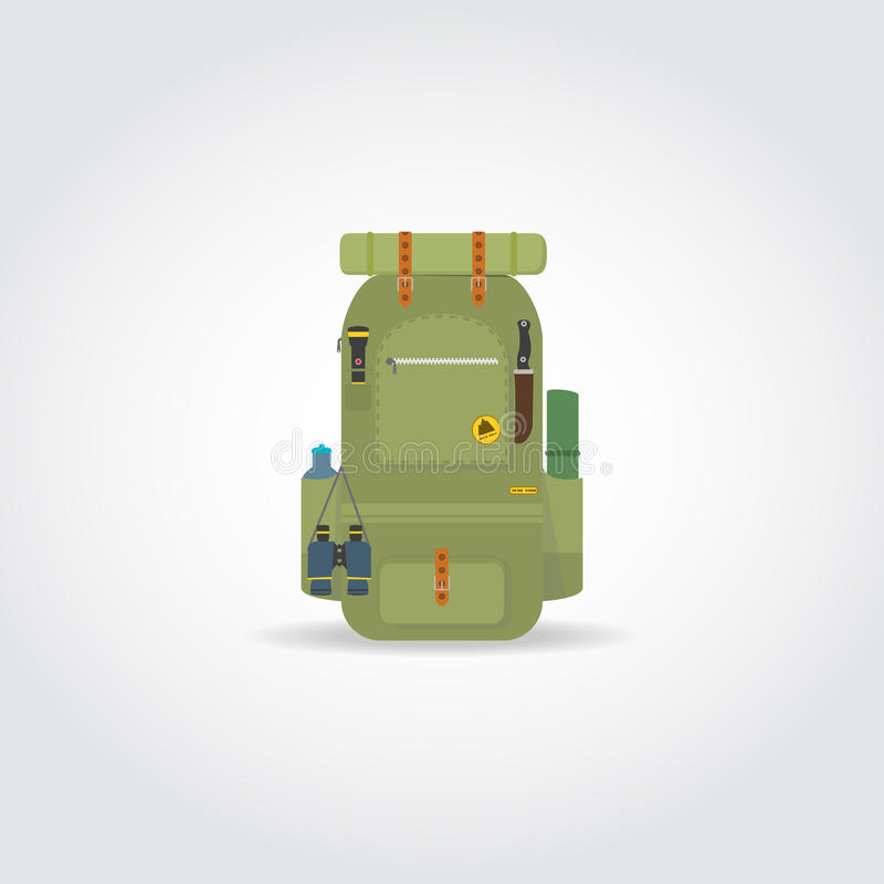 Loppgräsplanryggsäck vektor illustrationer