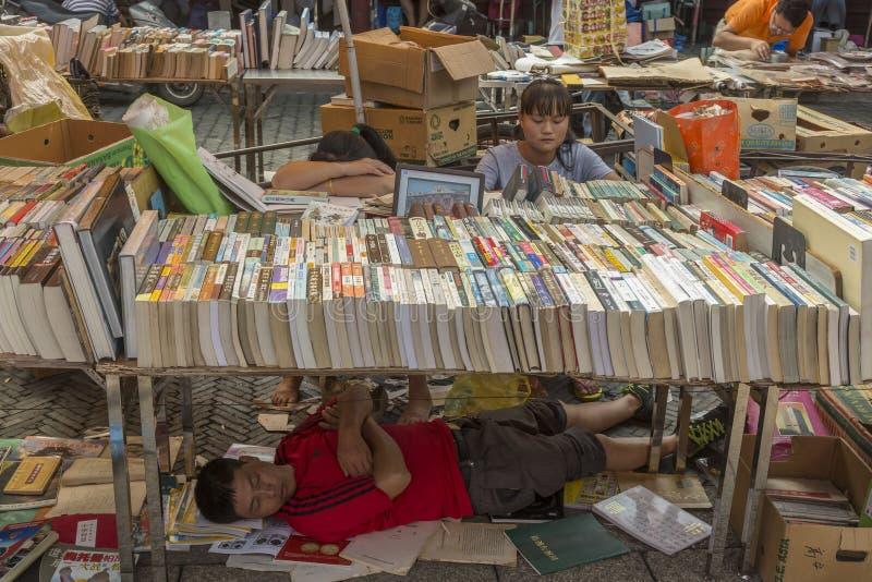 Loppmarknad i Shanghai, Kina royaltyfri bild
