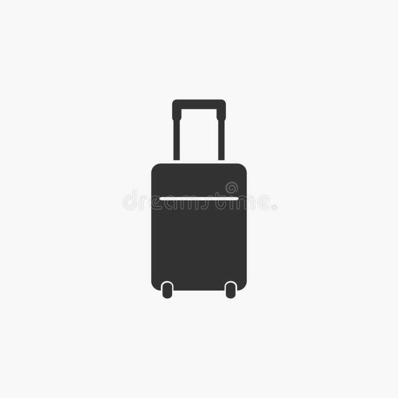 Lopppåsesymbol, lopp, påse, bagage stock illustrationer