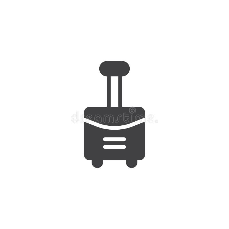 Loppresväska med hjulsymbolsvektorn vektor illustrationer