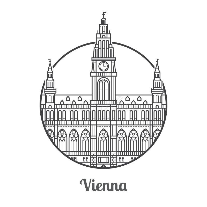 LoppWien symbol vektor illustrationer