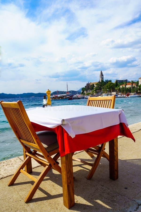 Lopud port i plaża obraz royalty free