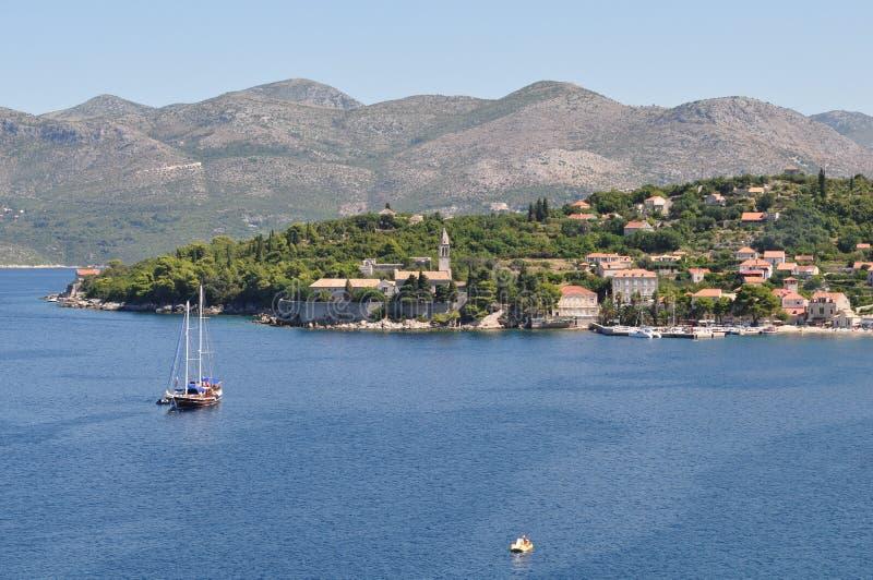 Lopudeiland in Kroatië stock foto